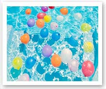 baloons in water